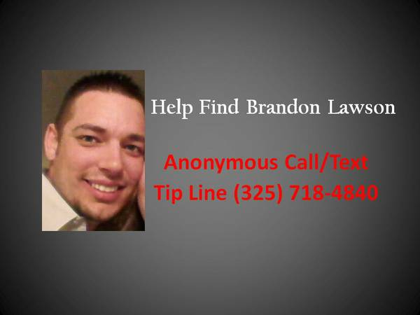 MISSING PERSON  Brandon Lawson   Bronte  Texas
