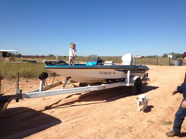 16 ft King Fisher Bass Boat trade for truck  car -   x0024 2000  Hawley