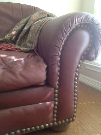 Leather Couch by Sealy - $850 (Buffalo Gap)