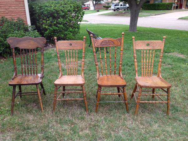 Antique Pressed Back Chairs - x002435