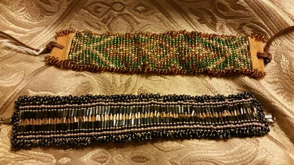 Native American style hand beaded bracelets  3709 Westchester Drive