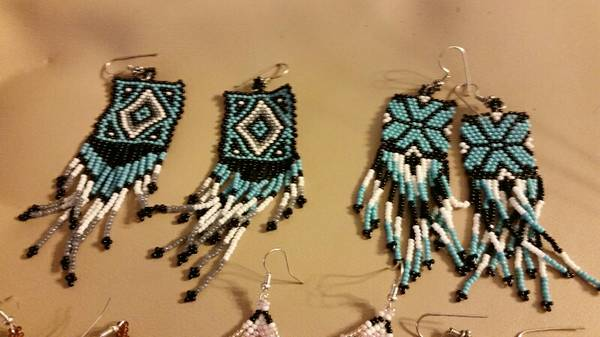 Native American style loom beaded earrings  3709 WestChester Drive