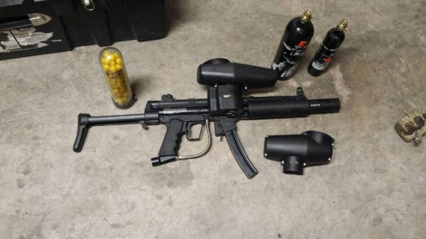 Paintball gun and accessories - $250 (Dyess)