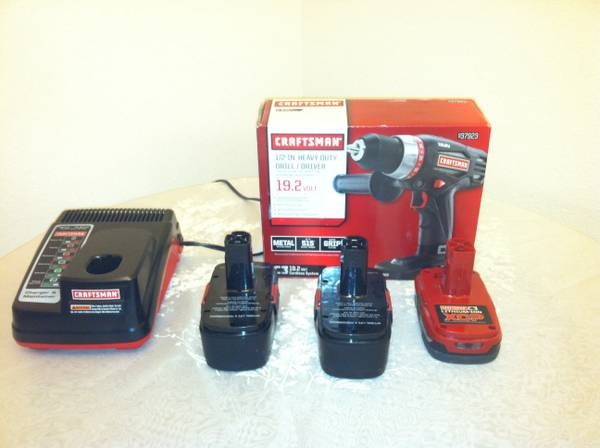 Craftsman 19.2 Volt Drill NIB, plus 3 used batteries and charger - x0024100 (Abilene )