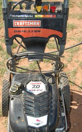 Craftsman Briggs Stratton Gas Powered Pressure Washer - $135 (Abilene Tx. )