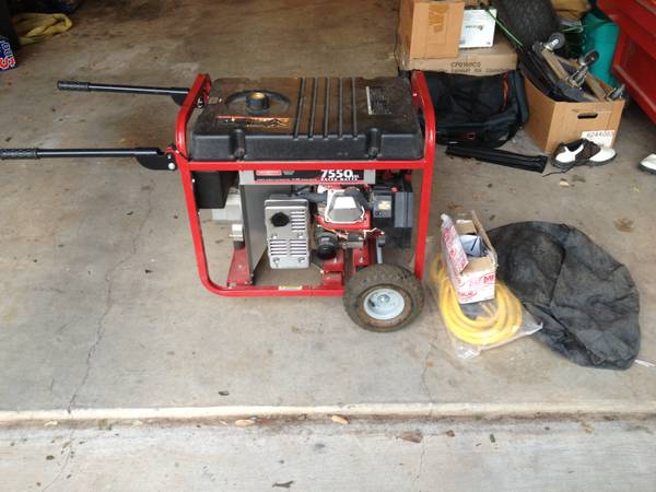 Generac 7550 EXL Electric Start Generator - $750 (Abilene)