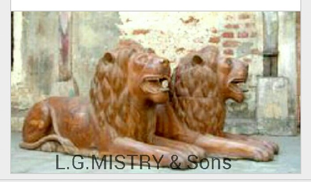 50 000  antiques wooden Lion