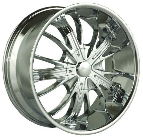 Gazario Wheels Style 701-24 Chrome Rims with Black inserts - $1000 (Winters)