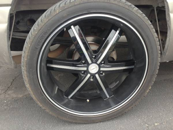 24 inch black strada rims and tires 2 months old - $1500 (brownwood will trav)