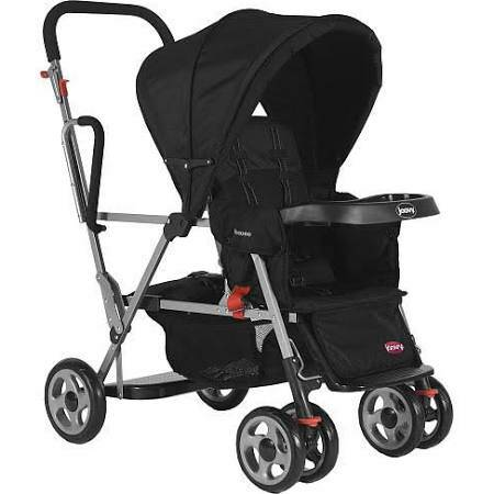 Joovy Caboose sit and stand stroller in black - $90 (abilene)