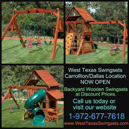 Wooden Swing Sets up to 35  off