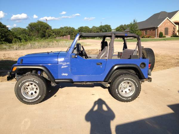 Blue 1998 Jeep TJ - $6300 (Clyde)