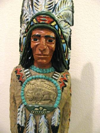 Very Rare signed Ralph Gallagher 4 Indian carving - $995 (Cedar Park Tx 78613)