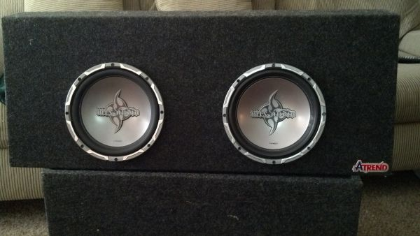 two 10inch MTX subwoofers in a shallow truck box - $150 (North abilene)