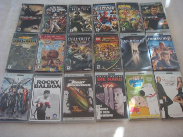 PSP, charger, 9 games, 9 movies, and case - $120 (Dyess AFB)