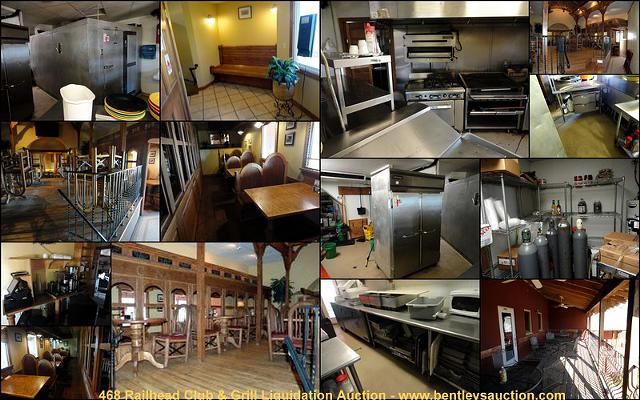 Railhead Club  Grill Liquidation Auction