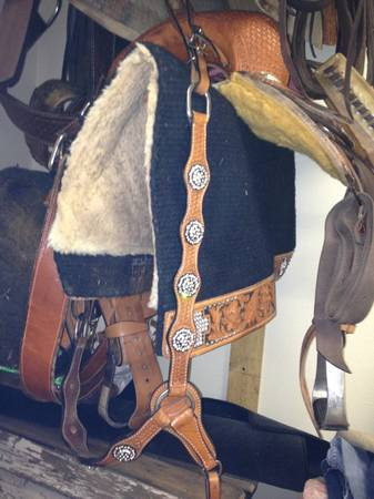 13 12in barrel saddle ready to go - $600 (Abilene)