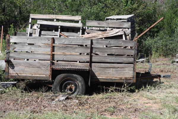 5x9 utility trailer with sideboards - $250 (Anson)