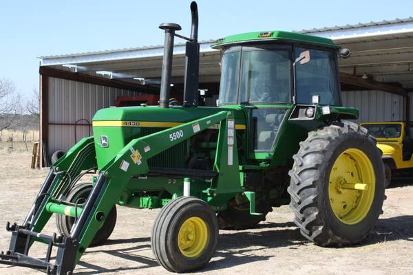 John Deere Cab Tractor 4430 with KD Loader - x002422500 (Brownwood)