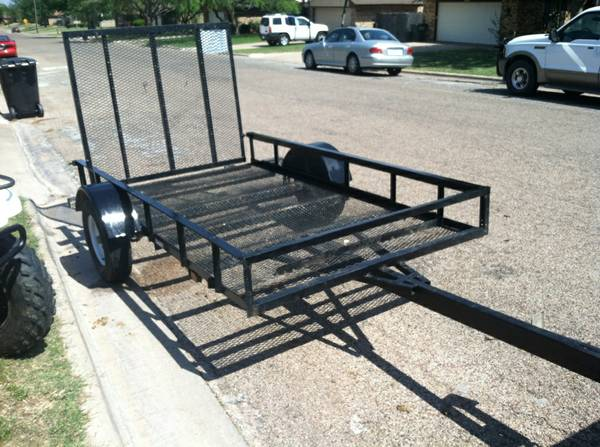 5x9 Steel Utility Trailer with a r-LIKE NEW - $700 (abilene)