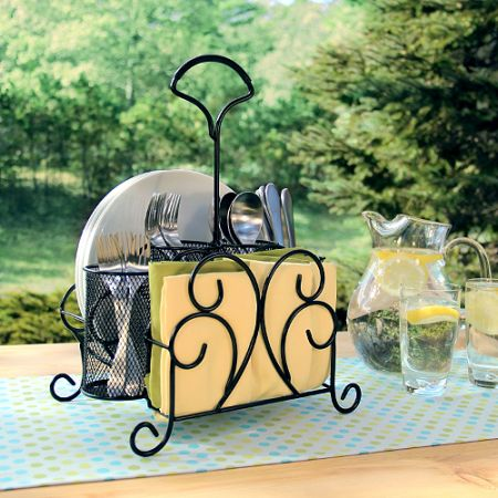 SALE Wrought Iron Serving Caddy for Picnic, Buffet, Barbeque, - $20 (Tuscola)