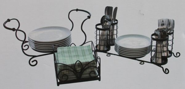 Large Wrought Iron Modular Buffet Caddy for Serving, Catering, Bbq - $30 (Tuscola)