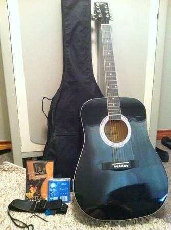 Esteban Steel String Black Acoustic Guitar Package - $175 (Abilene, TX )