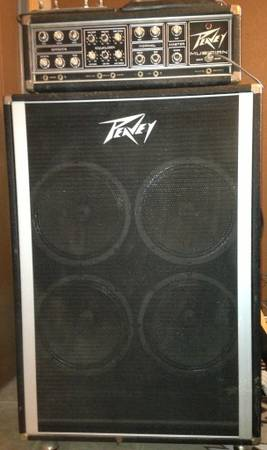 Vintage Peavey Musician 400 Amp Head and Cabinet - $500 (Coleman)