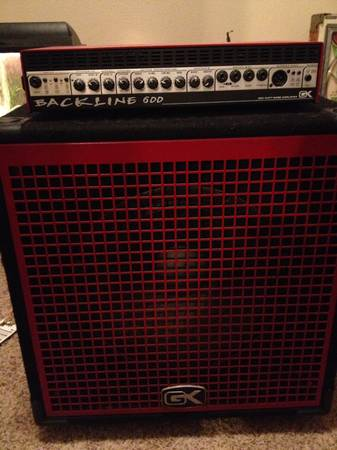 Gk Backline 600 Bass Amp and Cabinet Speaker 115 - $300 (Abilene)