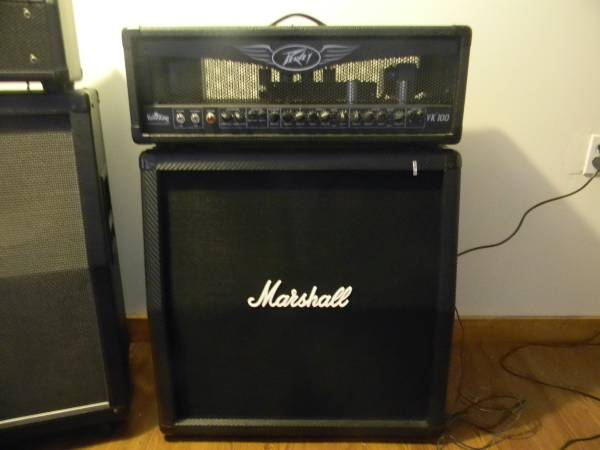 Peavey 100 W valveking head w marshall cab - x0024400 (Clyde)