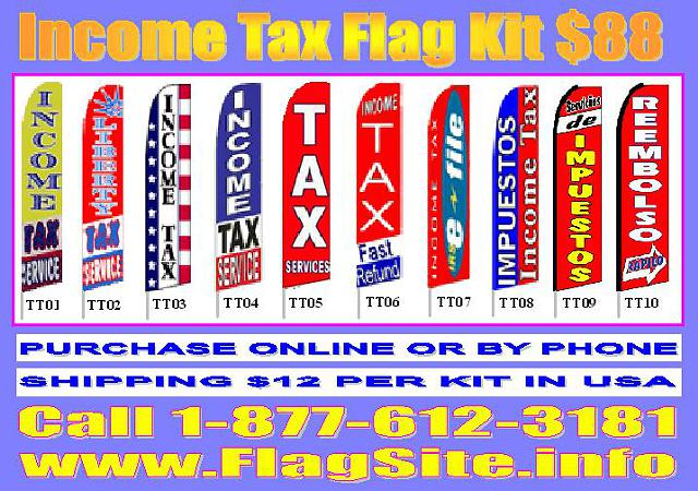 Immigration Flag  Tax service flag  Pizza  Hot Dog  Reale estate flags  CUSTOM Air Dancers