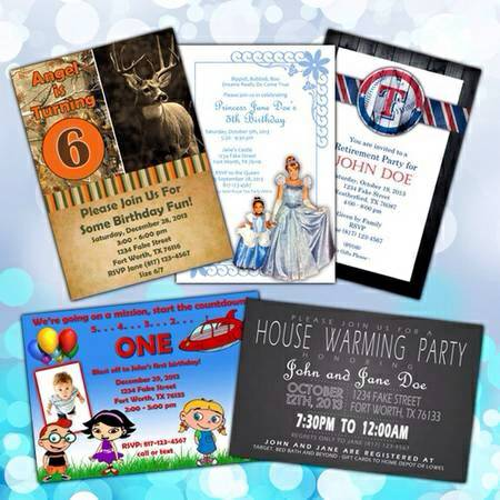 Custom Party Invitations  25  Abilene