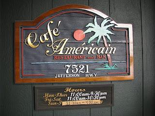 Cafe Americain Restaurant - 7521 Jefferson Hwy  Baton Rouge  LA  70806 - Ph 225-924-9841