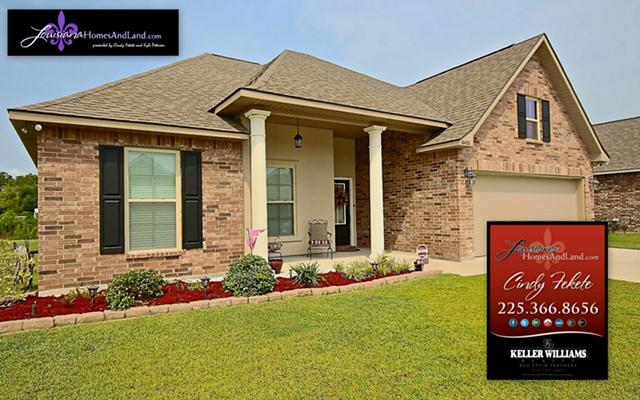 $209,000, 2 Year Old Home in Popular Prairieville, LA Subdivision For Sale