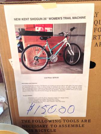 Brand new womens 26 Kent trail blaster - $150 (Coursey)