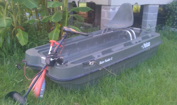 Pelican Bass Raider 8 ft. Boat with trolly motor - $550 (baton rouge)