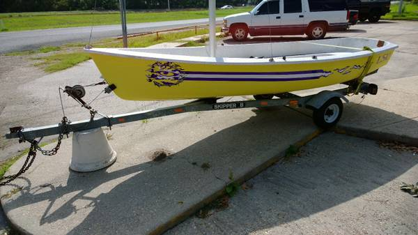 LSU Styled Sailboat - AMF alcort Puffer for sale - $1800 (Houma)