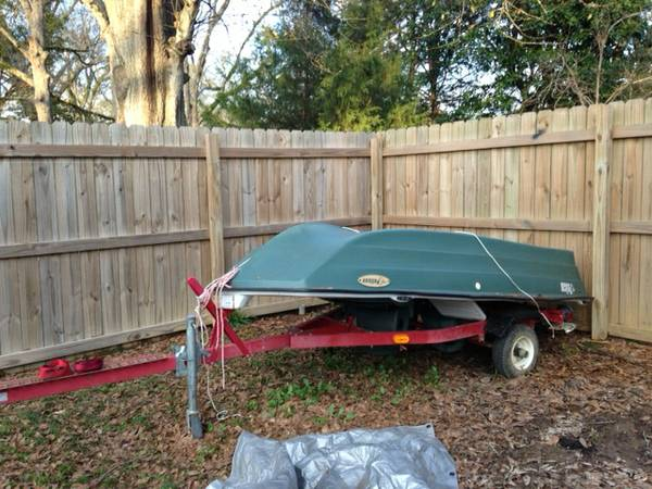 10 ft Pelican fishing boat Trailer - $1000 (Jackson, LA)