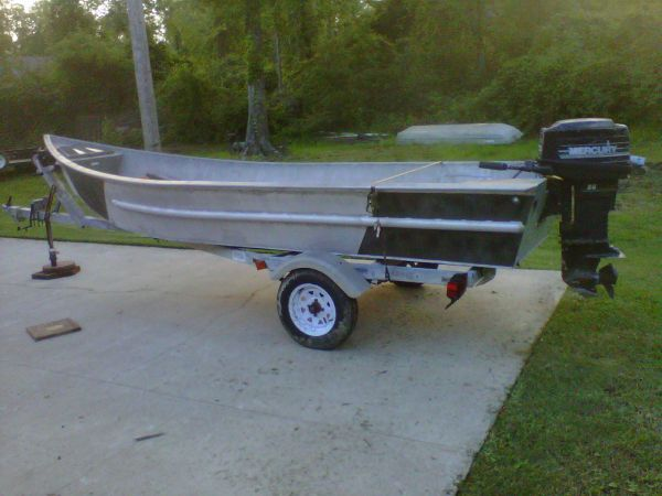 15 ft aluminum crawfish skiff - $2990 (central)