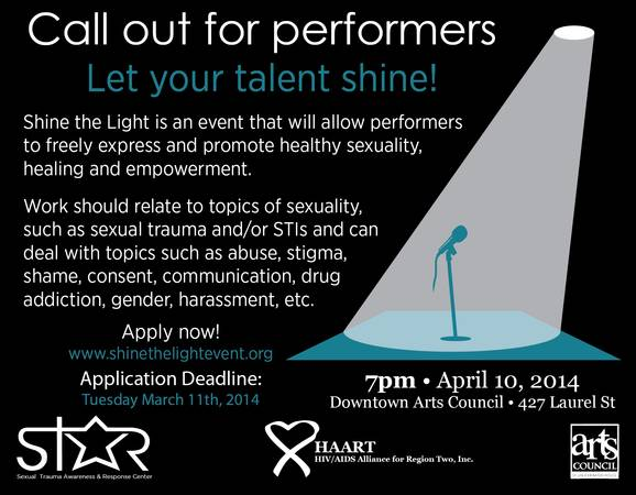 Call-Out for Performers  Art Awareness event