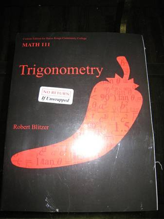 BRCC Trigonometry Math 111 Textbook AND MyLabPlus Code NEW - $120 (Baton Rouge)