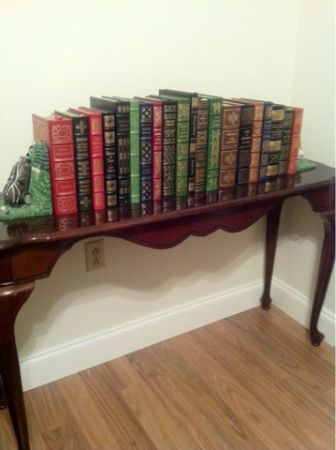 Easton Press Leather Bound 100 Greatest Books Book Display Table (BocageTown Center Baton Rouge)
