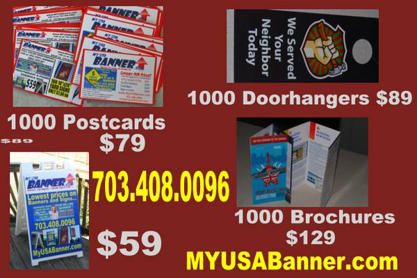Lowest print prices in LA Banners $1.99 sqft, Postcards 1000 for $79, - $1 (Baton Rouge)