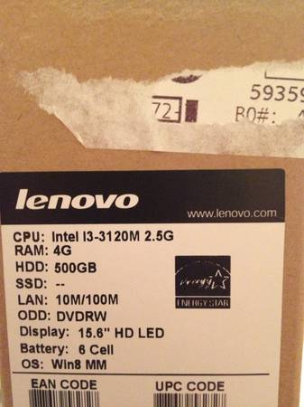 Lenovo Laptop - $275 (Denham Springs)