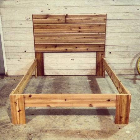 Rustic Modern Cedar Wood Bed $800 Kenilworth