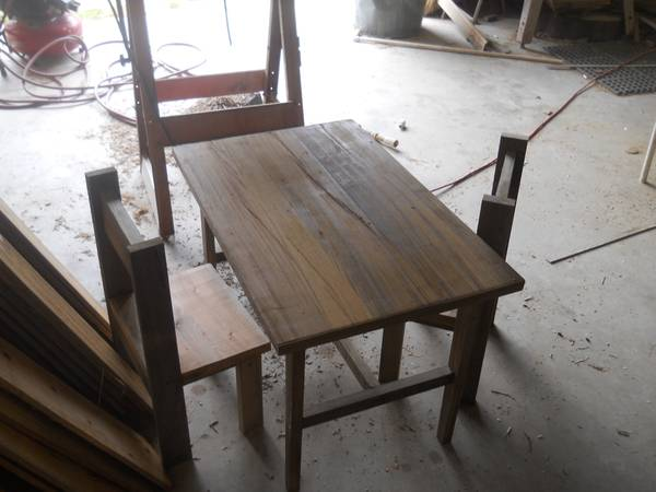 sinker cypress kids table and chairs - $100 (fs)
