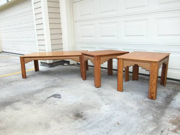 Matching Wooden Coffee Table 2 End Tables Living Room Set, Southwest - $100 (14086 Airline Hwy Gonzales, LA)