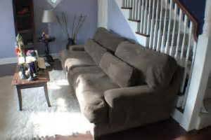 Z Gallerie mammoth couch and chair - $1000 (Downtown)