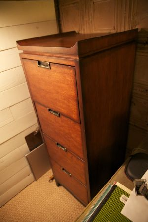 Hardwood file cabinet bought from Christian Street Furniture - $450 (Baton Rouge)