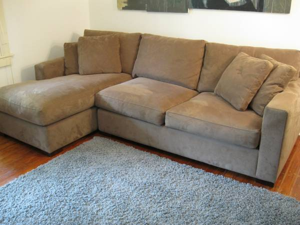Crate and Barrel Sectional Sofa - $525 (Mid-city)